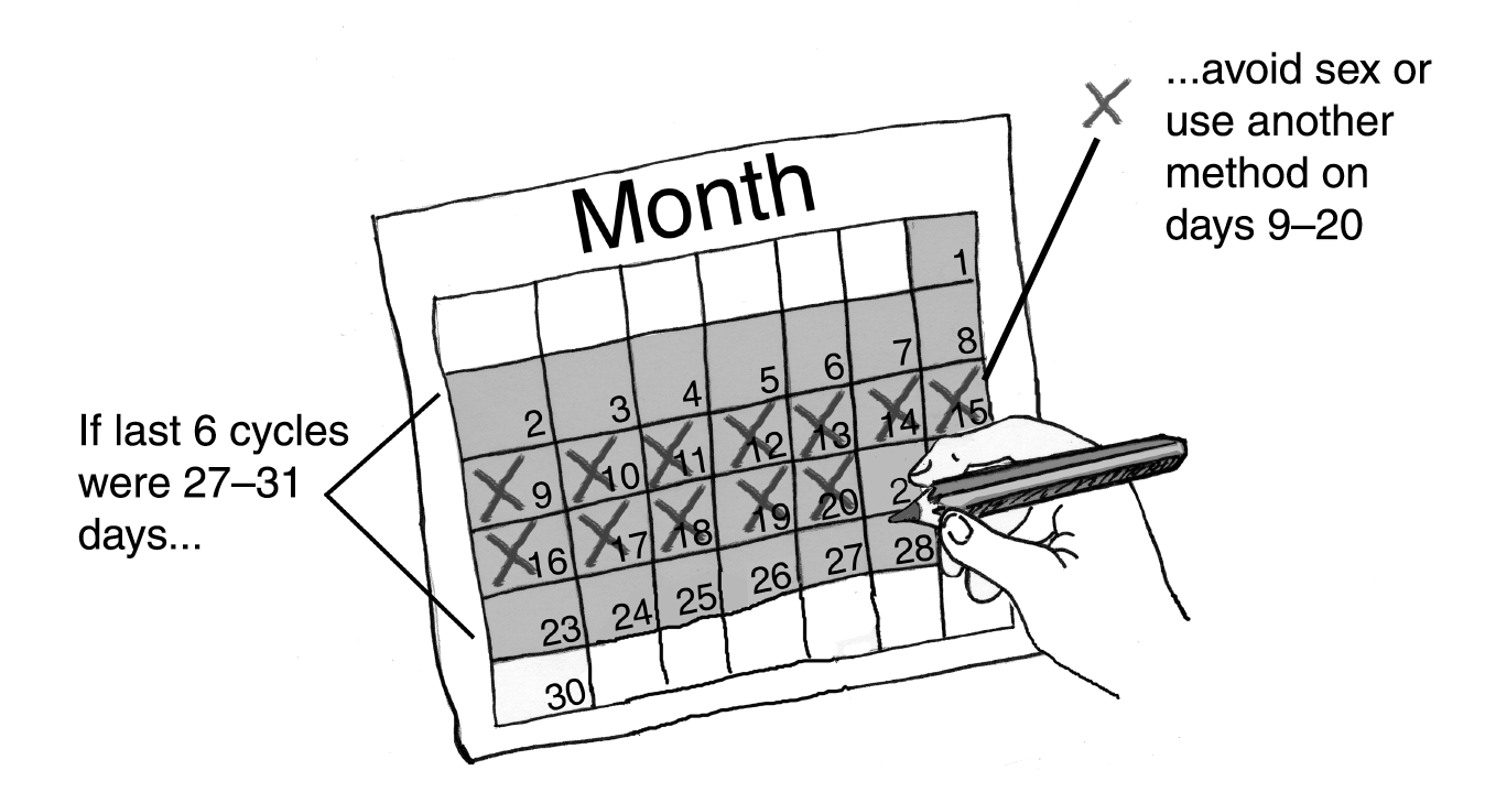 Calendar Method Illustration : Calendar rhythm method family planning