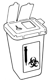 Dispose of single-use equipment and supplies properly and safely